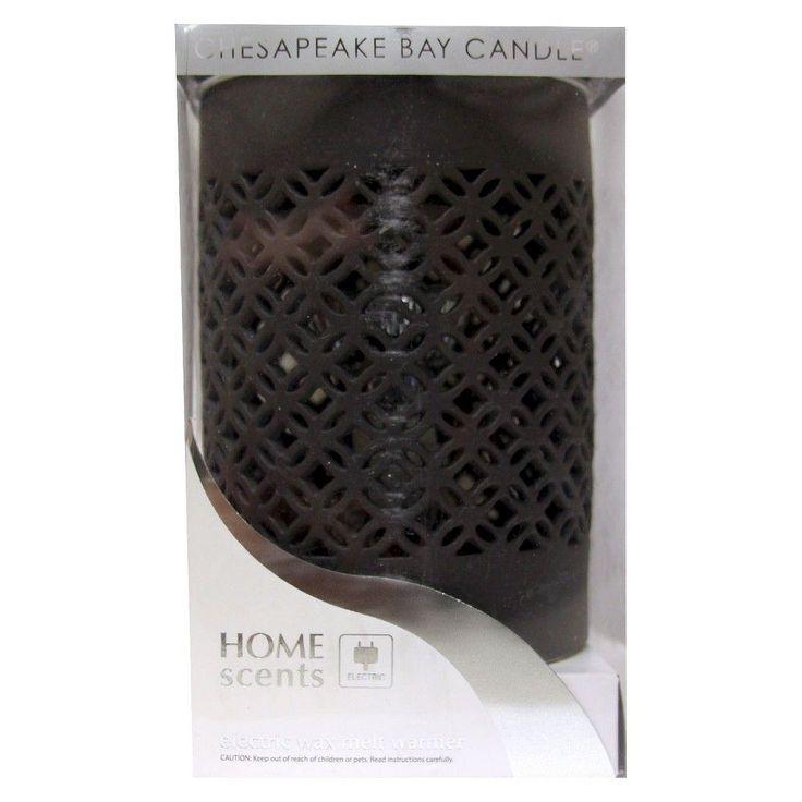 Home Scents Electric Wax Melt Warmer - Black, Heather Ebony