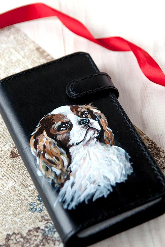 iPhone 6 Plus case wallet Cavalier King Charles Spaniel gift