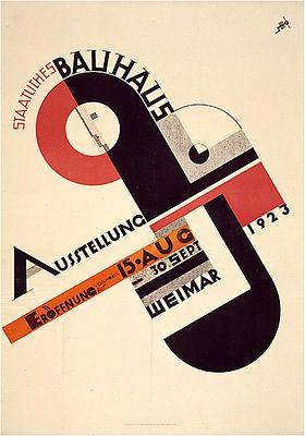 Joost schmidt staatliches bauhaus ausstellung 1923 for Staatliches bauhaus
