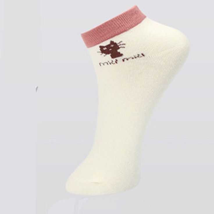 5 Colors Popular Spring Women Socks Cute Cat Candy Thin Invisible Cotton  high/boat Casual Girls Fitness Pilates  Socks F0254 #Affiliate
