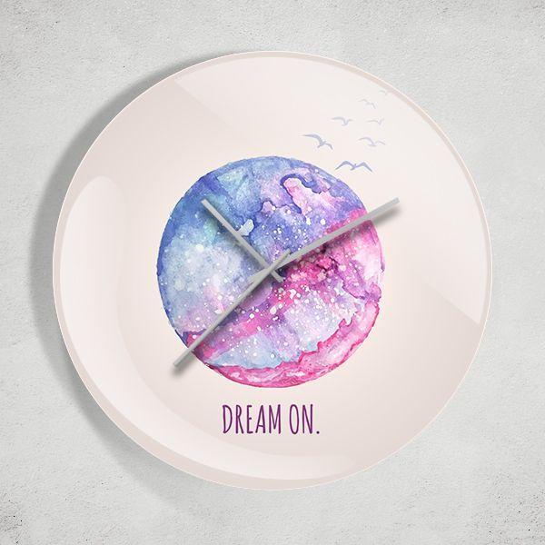 Dream On Watercolor Duvar Saati Zet.com'da 49.90 TL