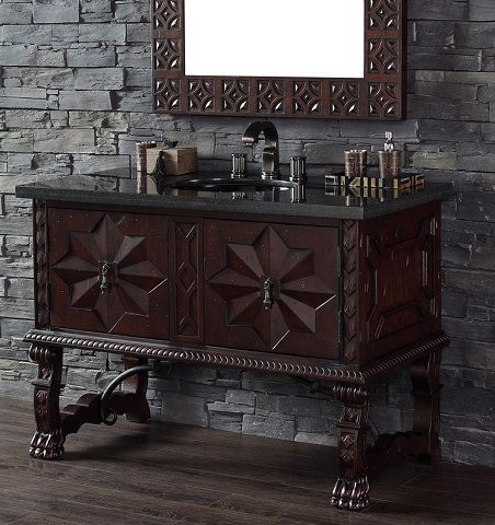 Mediterranean Style Bathroom Vanities: A More Exotic Antique Vanity - 191 Best Antique Bathroom Vanities Images On Pinterest Antique