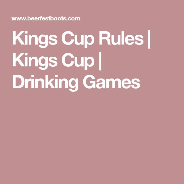 Kings Cup Rules | Kings Cup | Drinking Games