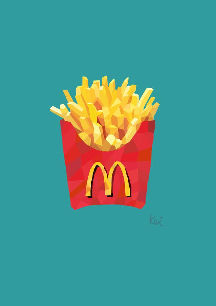 fresh fries #polygonart #illustrations