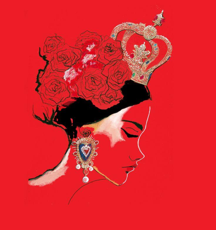 Dolce and Gabbana Spring 2015 Fashion Illustration by Stephanie Anne