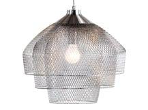 Gable kroonluchter hanglamp, geborsteld en gepolijst chroom