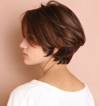 Short Bob Haircut - cut as a center part, I would need a side part ...