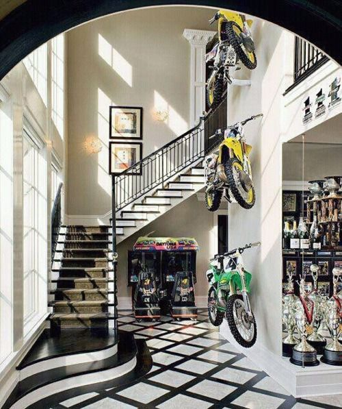 Ricky Carmichael's house. How sick is that?!
