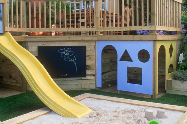 Playhouse Under Deck Playset Pinterest Awesome