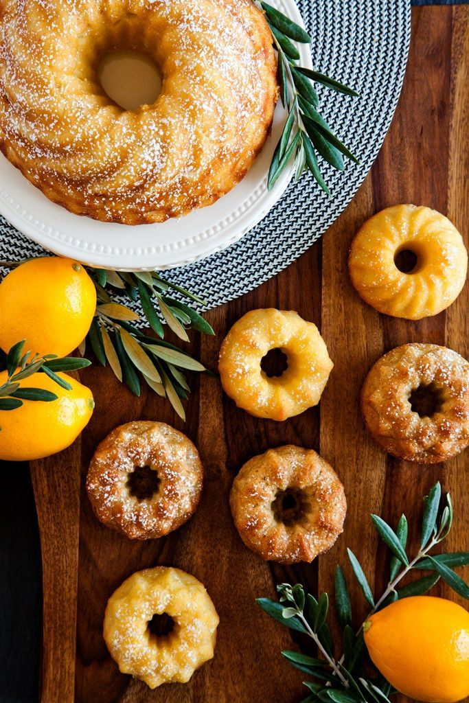 Meyer Lemon Olive Oil Cakes