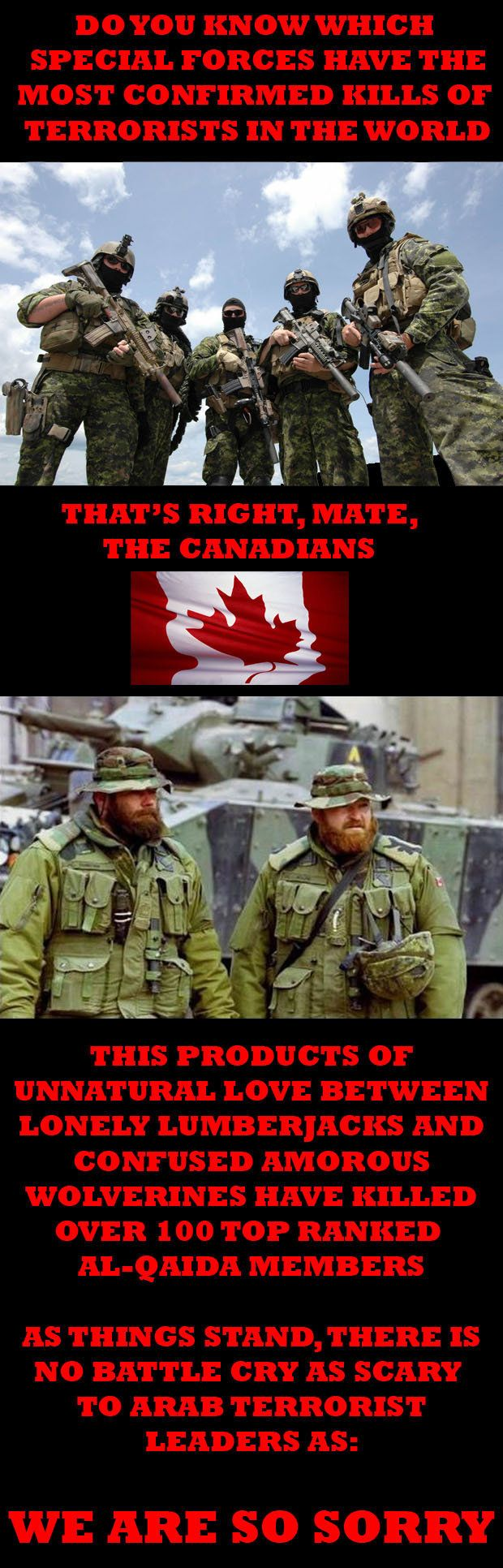 When I hear ISIS threatening Canada I remember this fact: