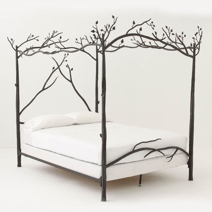 Forest canopy bed - Falling asleep has never felt so tranquil. We went directly to our iron workers to have these hand crafted iron Forest Canopy Bed is made s