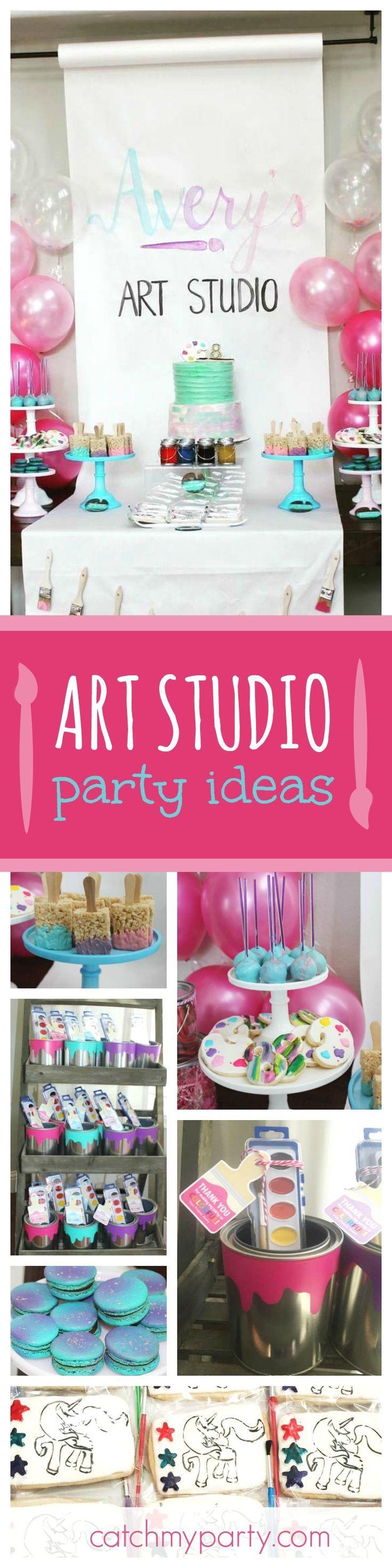 Art Party Birthday Averyu0027s Art Studio
