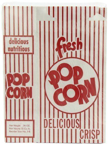 Snappy Popcorn 1E Close-top Popcorn Box, 100/Case, 5 Pound, Model: 3001H, Hardware Store. Easy and convenient. Just like the movies. Classic design. Lightweight. Recyclable.