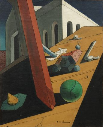 "The Evil Genius of a King Giorgio de Chirico Paris 1914-15. Oil on canvas, 24 x 19 3/4"" (61 x 50.2 cm). Purchase. © 2012 Artists Rights Society (ARS), New York / SIAE, Rome ~Repinned Via Kunimochi"