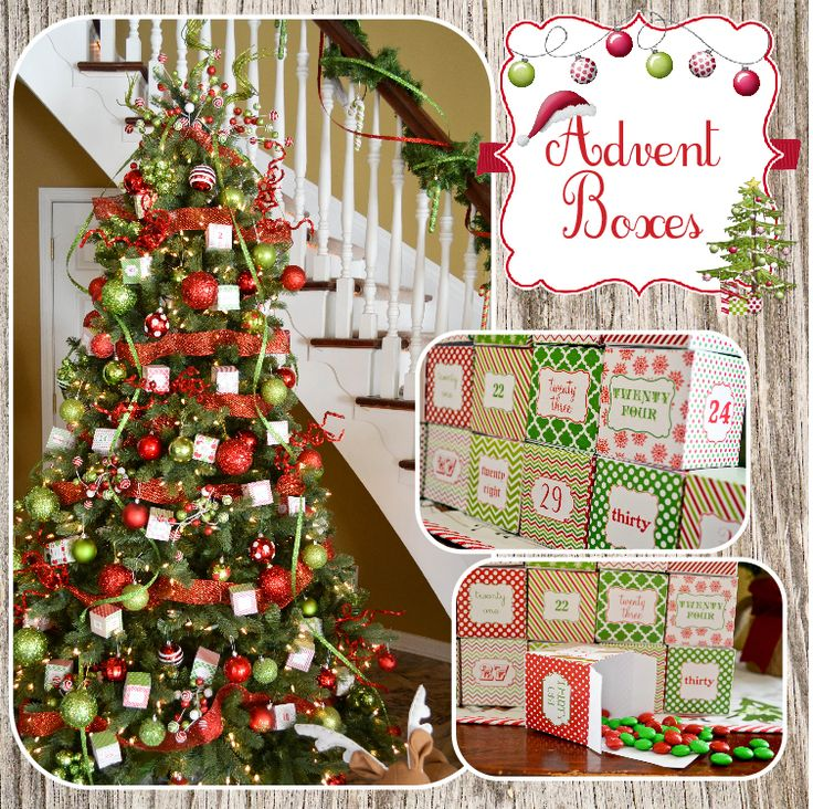 Free Printable Advent Boxes