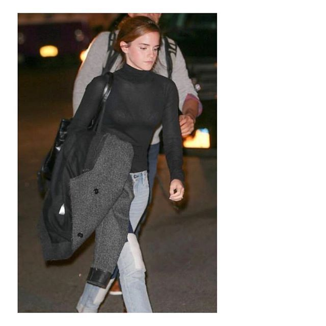 EMMA WATSON in WORON ❤  @emmawatson spotted in our #vegan and #sustainable #bodysuit 'Sleek Body'. 📷: @the_press_tour . . . . #woron #sustainablefashion #essentials #veganfashion #favourites #sustainable #underwear & #everydaywear #woronstore