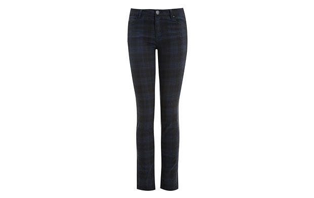 "Checked Skinny Jeans. ""Breathe new life into your denim collection - we love these cool checked skinny jeans."""