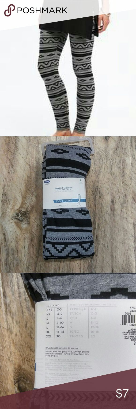 4 for $15 NEW Aztec print leggings Old navy Aztec print leggings in grey and black. Fits size 20🌟🌟🌟4 for $15 sale is for any 4 different qualifying listings! Old Navy Pants Leggings