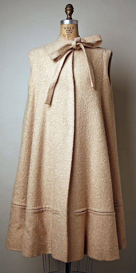 Coat Pauline Trigère (American, born France, 1908–2002) Date: 1953 Culture: American Medium: wool, glass