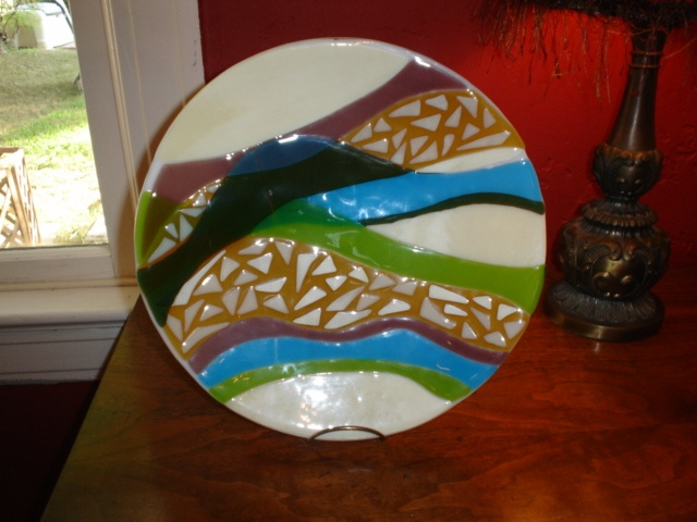 18 inch bowl  River Bed by Barbara Draughon