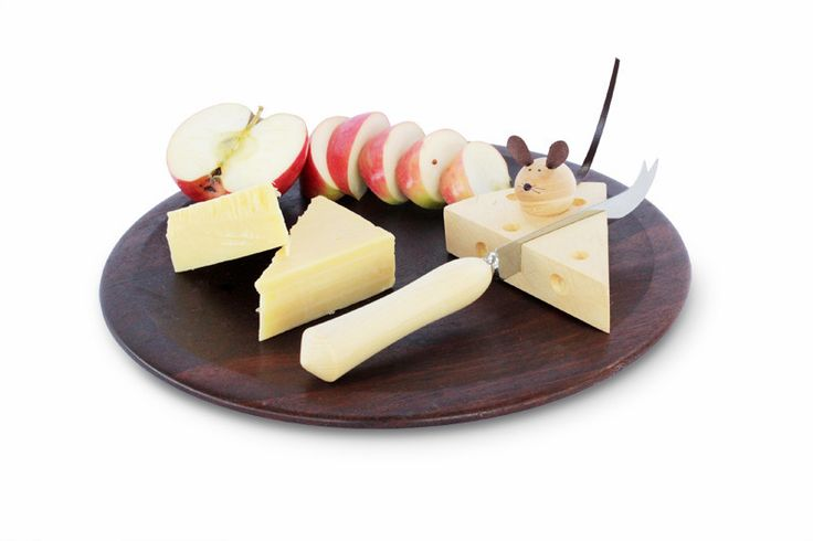 Buy Huon Pine Cheese Knife & Cheese Rest with Mouse | Australian Woodwork