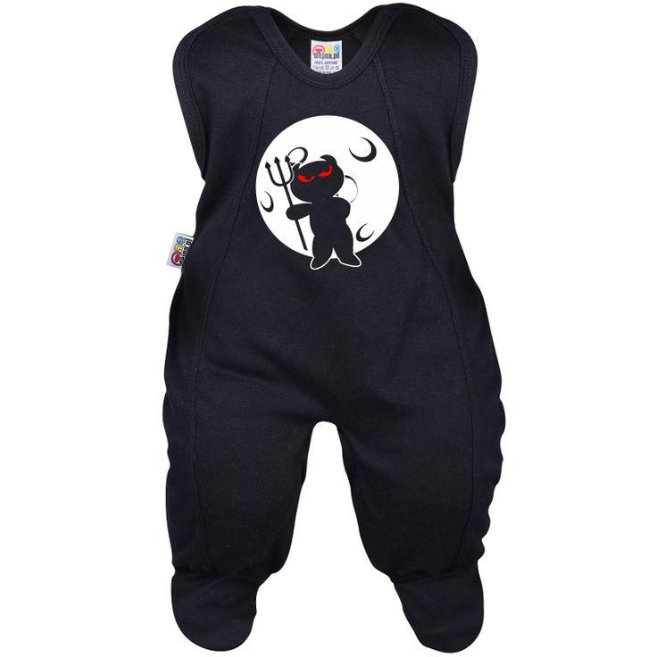 Grenouillère bébé : diable et lune - Halloween - Family In Black