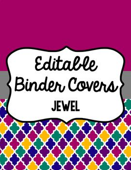 Keep yourself organized and fancy with these binder covers. There are 13 different designs (listed below) with six different frames (designs) for each color included. Spines are also included (1 inch, 1.5 inch, 2 inch, and 3 inch) for each color. That means you get 90 different binder