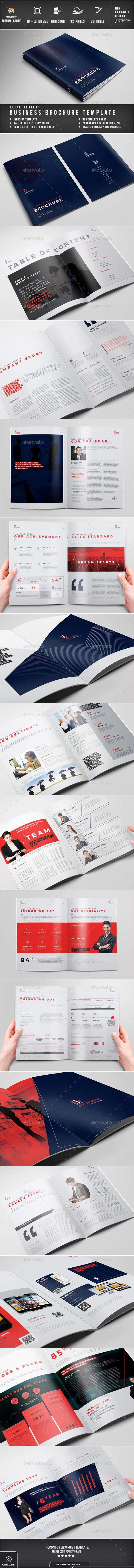 Brochure - Brochures Print Templates Easy Customization and Editable A4 and US Letter Size with 3mm bleed 32 pages Paragraph Style, Character style included Images, text, Objects are Different Layers Design in 300 DPI Resolution Indesign files Auto numbering Option working file adobe cc Adobe Indesign CC,CS6,CS5,CS4 or latter software version supported