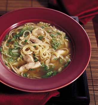 Chinese Chicken Noodle Soup--one of our family's absolute favorites (you can sub bok choy for the napa cabbage and boneless, skinless thighs for the breasts)