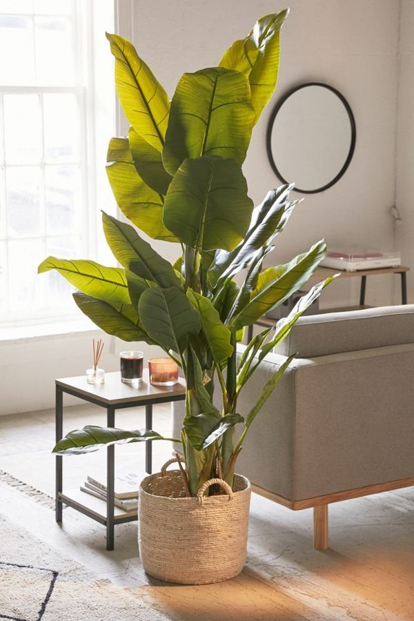 Potted Faux Banana Tree Tropical Home Decor Home Decor Banana Tree