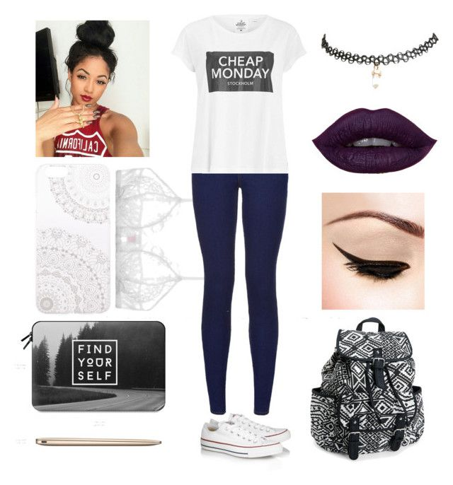 """Untitled #6"" by explicitexposa ❤ liked on Polyvore featuring Converse, Only Hearts, Cheap Monday, Monika Strigel, Casetify, Wet Seal and Aéropostale"