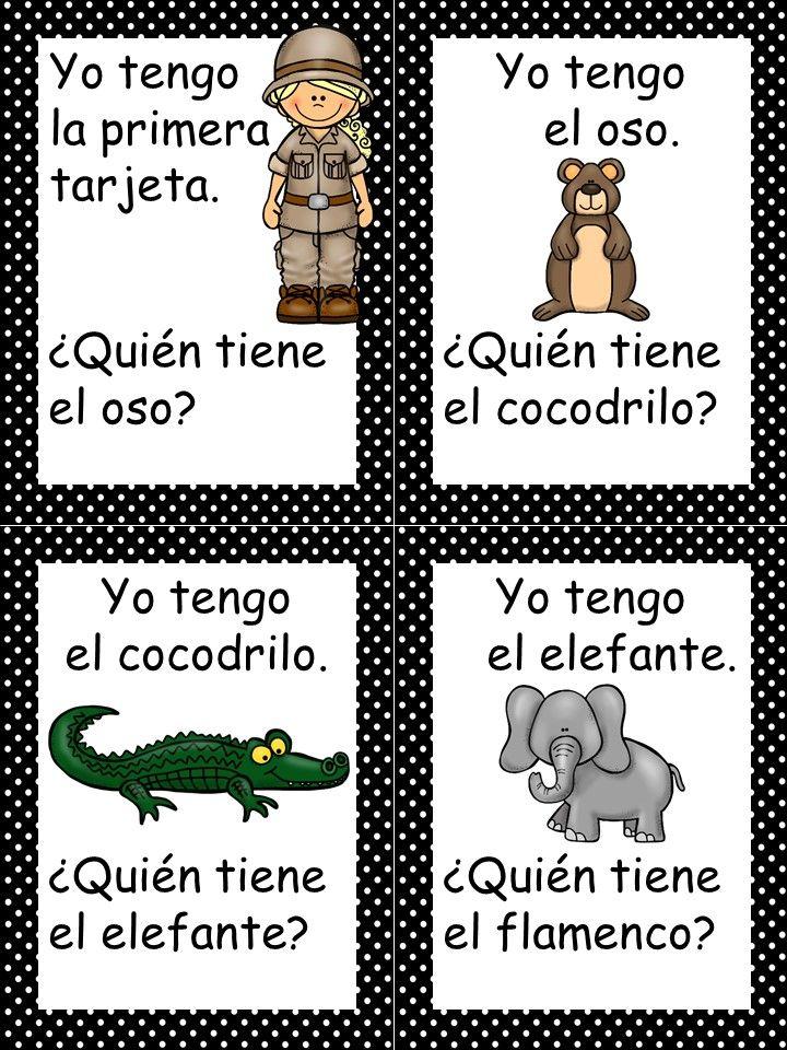 Zoo Animals In Spanish Spanish Zoo animals, Spanish