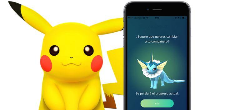 Cómo seleccionar un Pokémon compañero en Pokémon Go - http://www.actualidadiphone.com/seleccionar-pokemon-companero-pokemon-go/