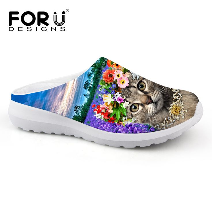 Fashion Summer Style Women Slipper Casual Sandals Brand Woman Shoes Slip On Flats Slippers Cute Animal Cat Face Print Home Shoes
