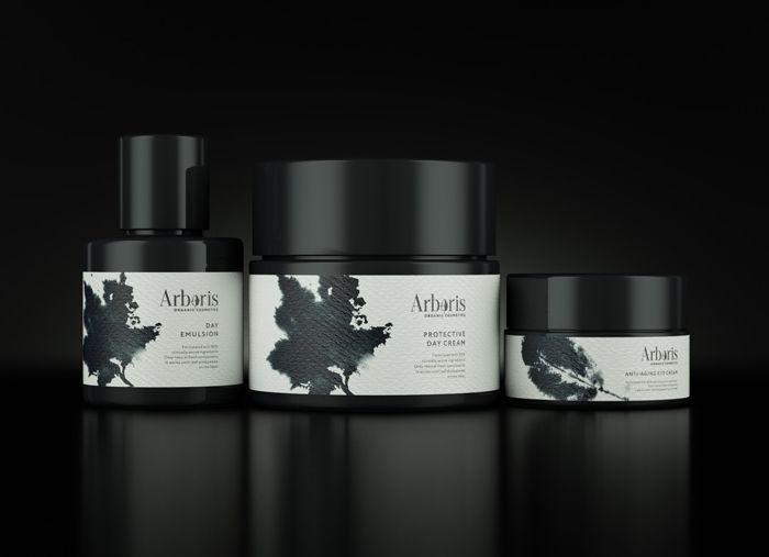 Arboris premium organic cosmetic packaging designed by Moscow-basedOhmybrand.