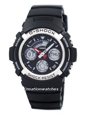 Casio G-shock Analog Digital World Time AW-590-1ADR Men's Watch