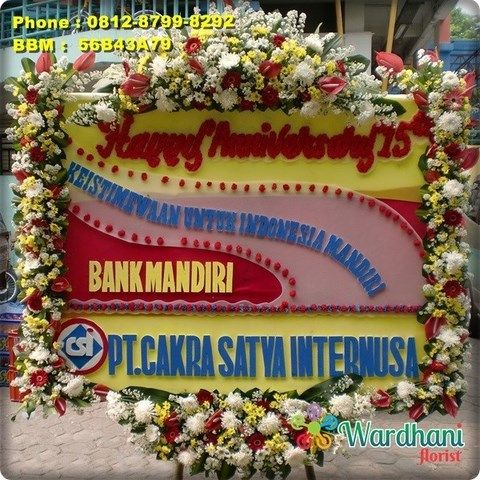Bunga Papan Happy Anniversary AVS675WF