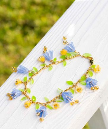 shrinky dink flower bracelet