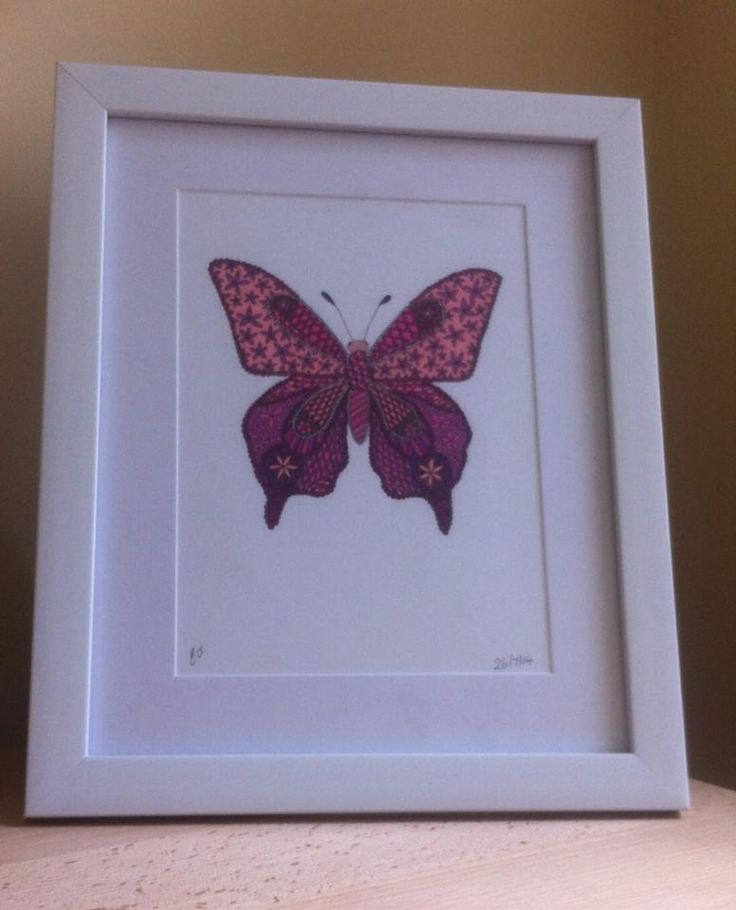 framed butterfly art by Emmas Art