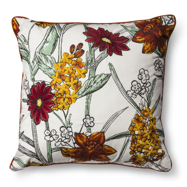 Threshold� Jacquard Floral Toss Pillow - Multicolor (Square)