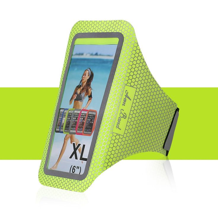 Touching Sports Armband for iPhone 6 (Plus)/ iPhone 7 (Plus)/Samsung S6 S7 Edge/Note 5, Waterproof/Sweatproof ArmBand Case Cover with Key & Card Pockets Holder for Outdoor Sports-Green. <b>Material</b>: soft, flexible, not easy to deformation, making users comfortable and relaxed while fitting perfectly to arm. <b>Lightweight</b>: less than 50 gram. Height: thin to 1 millimeter. It reduces user's heavy burdens when exercising. <b>Belt with Velcro</b>: adjustable circumference [26cm-41cm]…
