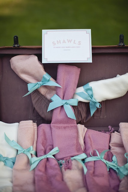 Shawls for the guests: Free Scarves, Umbrellas Parasol, Weddings Events, Favors Idea, Shawl Display, Scarfs, Stalls Display, Suitca Shawl, Scarves For Weddings