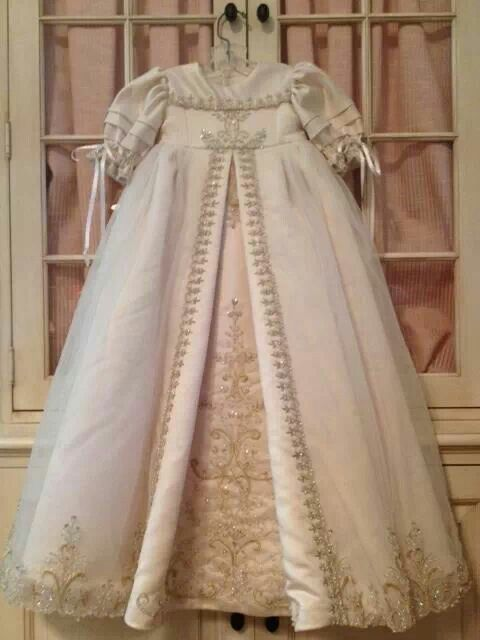 Christening gown made from wedding dress I always wanted to do this with my gown and I still had enough to do Bassenet
