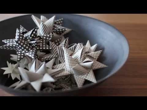 How to fold a Scandinavian Christmas star