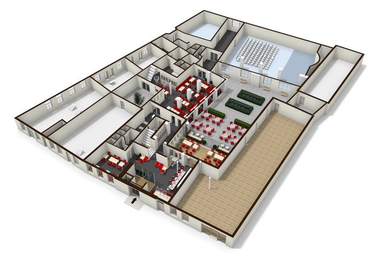 Well drawn plan of a funeral home Cool floorplans Pinterest