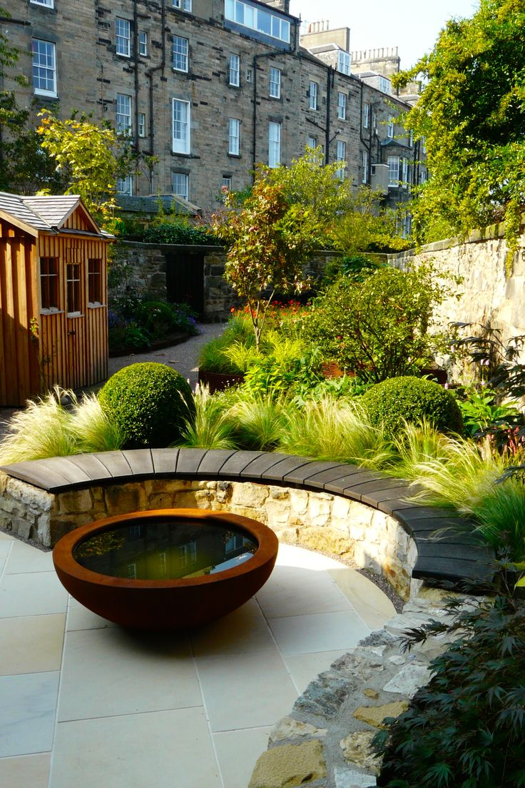 View of garden from house. Garden designed by Carolyn Grohmann, www.secretgardensdesign.co.uk