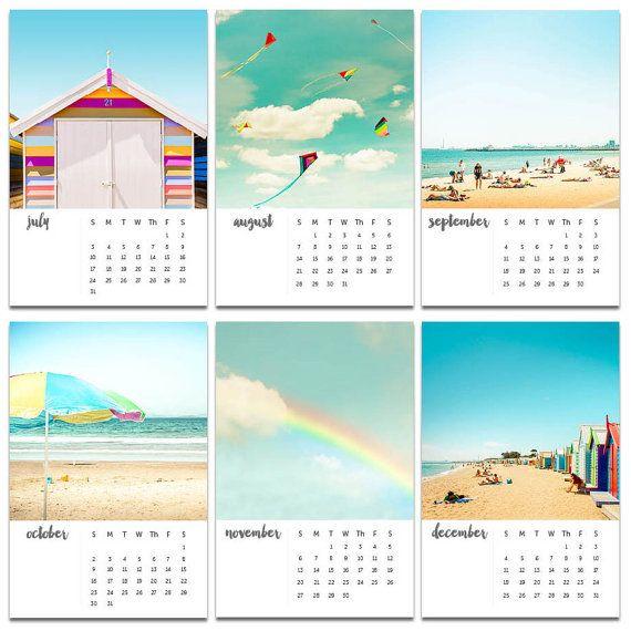 2020 Calendar Desk 2020 Calendar Wall Beach Calendar With Etsy Beach Calendar Wall Calendar Calendar Design