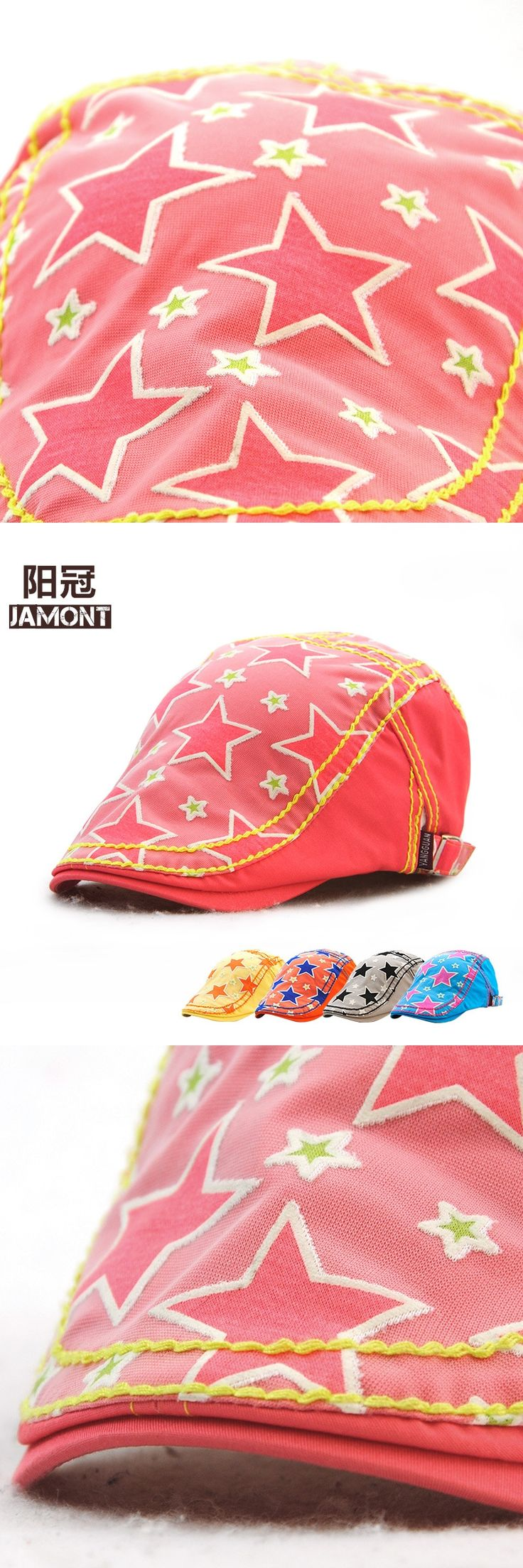 The spring and autumn children children star brand peaked cap hat hat cotton outdoor sunshade hat wholesale