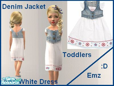Em Emz Emmy's Emz Denim Jacket and White Dress